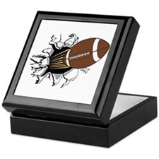 Football Burster Keepsake Box