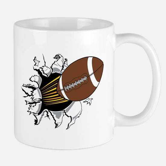 Football Burster Mug