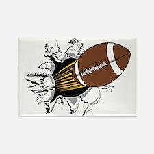 Football Burster Rectangle Magnet
