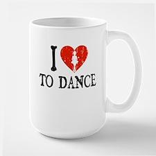 I Heart to Dance - Little Gir Large Mug