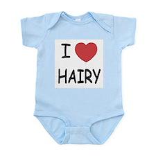 I heart hairy Infant Bodysuit