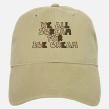 Ice Cream Scream Baseball Baseball Cap