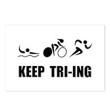 KEEP TRI-ING Postcards (Package of 8)