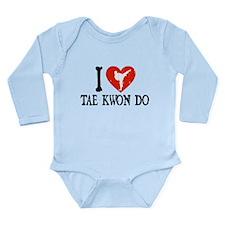I Heart Tae Kwon Do - Girl Long Sleeve Infant Body