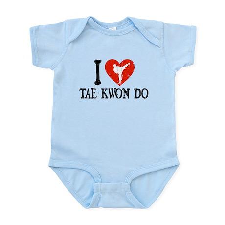 I Heart Tae Kwon Do - Girl Infant Bodysuit