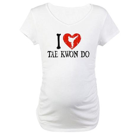 I Heart Tae Kwon Do - Girl Maternity T-Shirt