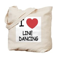 I heart line dancing Tote Bag