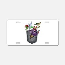 Nature Watercolor Aluminum License Plate