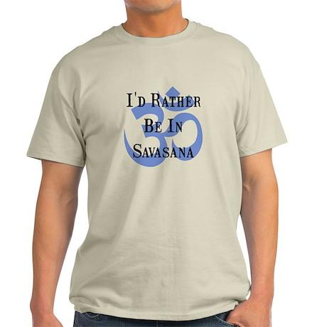 Rather Be In Savasana Light T-Shirt