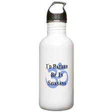 Rather Be In Savasana Water Bottle
