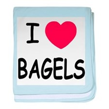 I heart bagels baby blanket