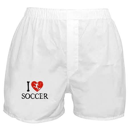 I Heart Soccer - Guy Boxer Shorts