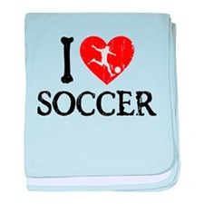 I Heart Soccer - Guy baby blanket