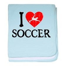 I Heart Soccer - Goalie Guy baby blanket