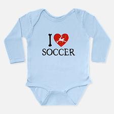 I Heart Soccer - Goalie Guy Long Sleeve Infant Bod
