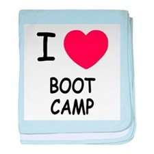 I heart boot camp baby blanket
