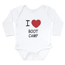 I heart boot camp Long Sleeve Infant Bodysuit