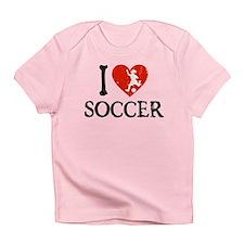I Heart Soccer - Girl Infant T-Shirt