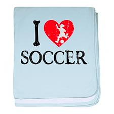 I Heart Soccer - Girl baby blanket