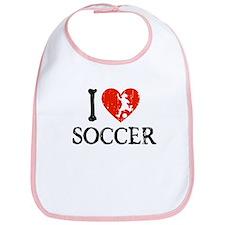 I Heart Soccer - Girl Bib
