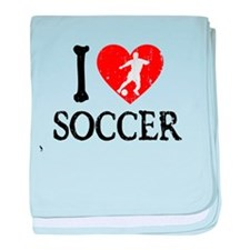 I Heart Soccer - Guy 2 baby blanket