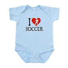 I Heart Soccer - Guy 2 Infant Bodysuit