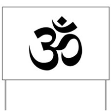 Yoga Om Yard Sign