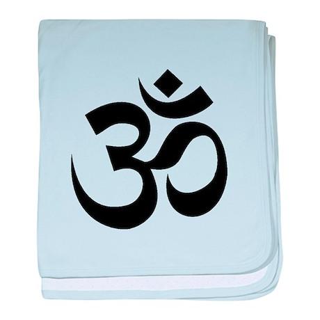Yoga Om baby blanket