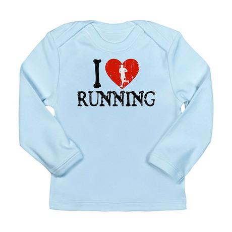 I Heart Running Long Sleeve Infant T-Shirt