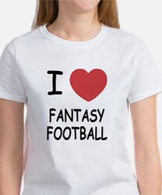 I heart fantasy football Tee