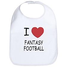 I heart fantasy football Bib