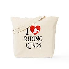 I Heart Riding Quads Tote Bag