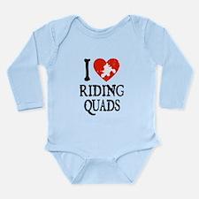 I Heart Riding Quads Long Sleeve Infant Bodysuit
