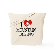 I Heart Mountain Biking Tote Bag
