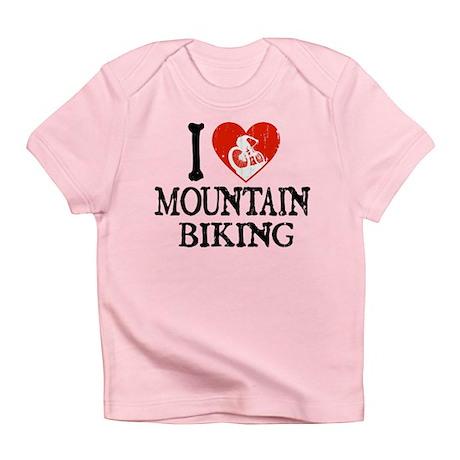 I Heart Mountain Biking Infant T-Shirt