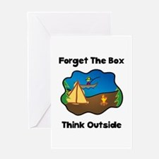 Think Outside Greeting Card