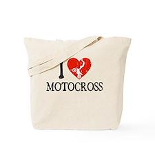 I Heart Motocross Tote Bag