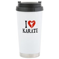 I Heart Karate - Girl Travel Mug