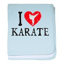 I Heart Karate - Girl baby blanket