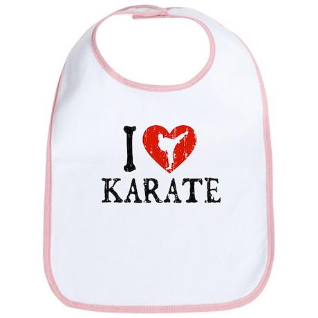 I Heart Karate - Girl Bib