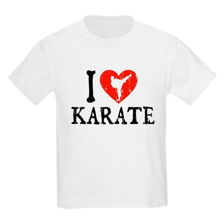 I Heart Karate - Girl Kids Light T-Shirt