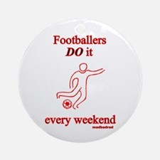 Football Muddy Weekend Ornament (Round)