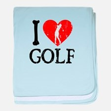 I Heart Golf - Woman baby blanket