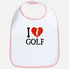 I Heart Golf - Woman Bib