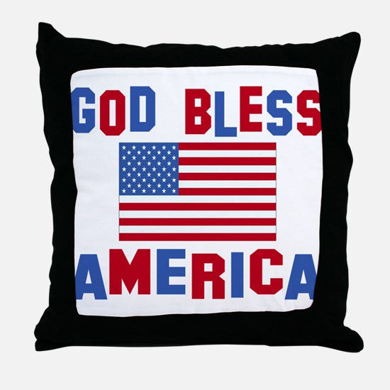 Cute Best selling god bless america Throw Pillow