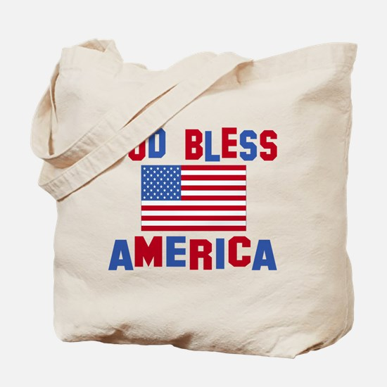 Cute God bless america Tote Bag