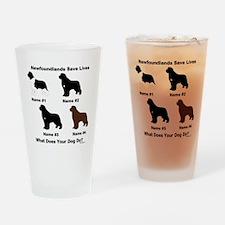 4 Newfoundlands Pint Glass