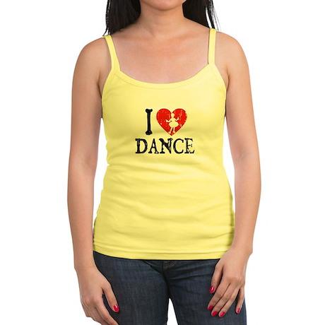 I Heart Dance 3 Jr. Spaghetti Tank