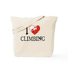I Heart Climbing - Woman Tote Bag