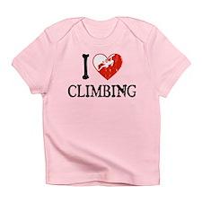 I Heart Climbing - Woman Infant T-Shirt